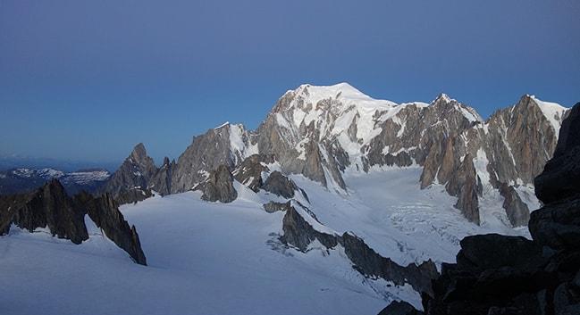alpes vista Mont Blanc amanecer