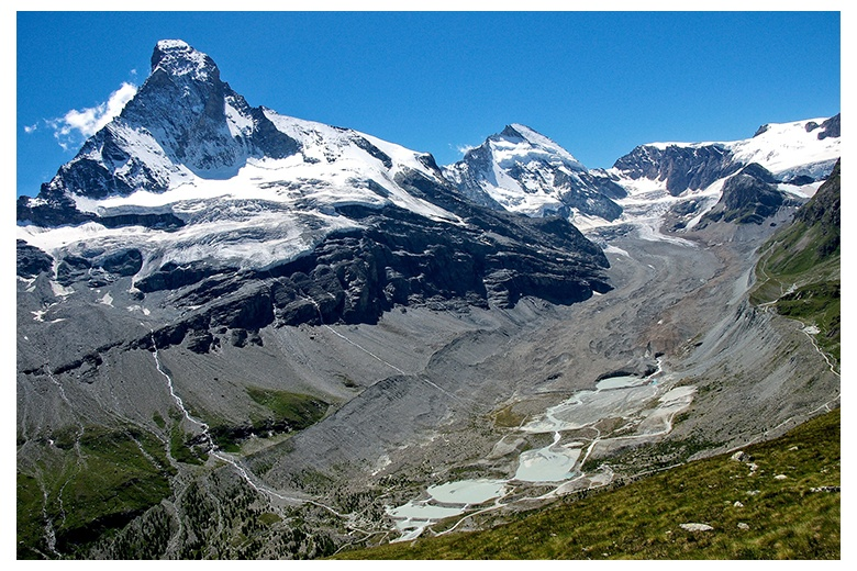 matterhorn north face impressive image plus zmutt glacier at his foot
