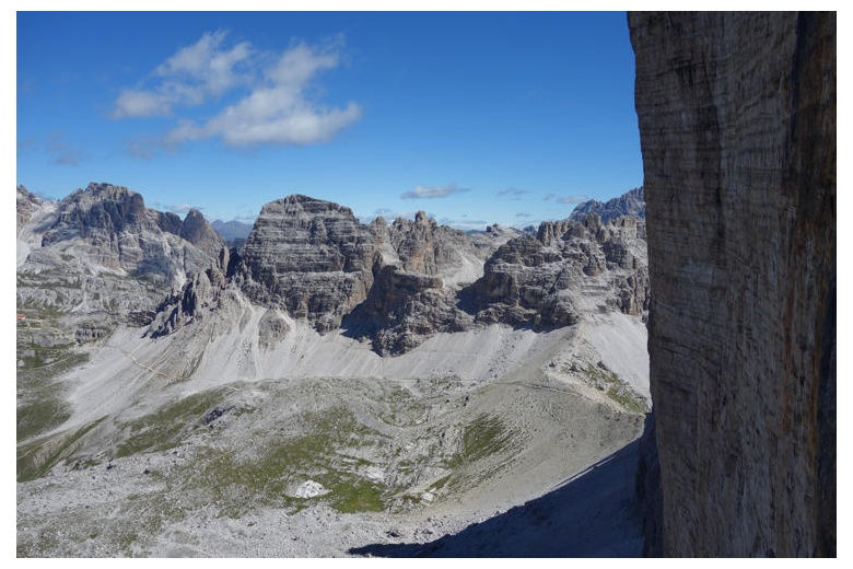 view from cima grande di lavaredo