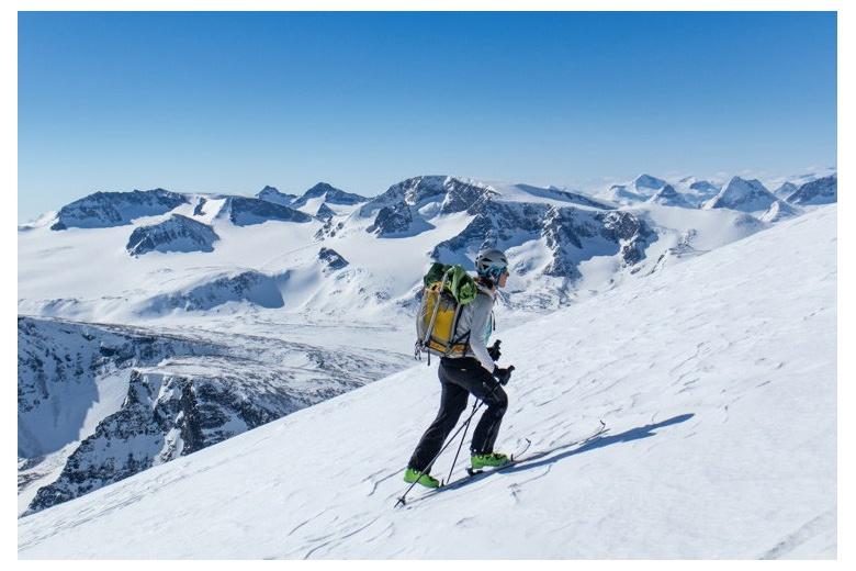 esquiadora glacieres